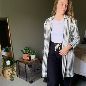 Black and White Philosophy Coat Blazer